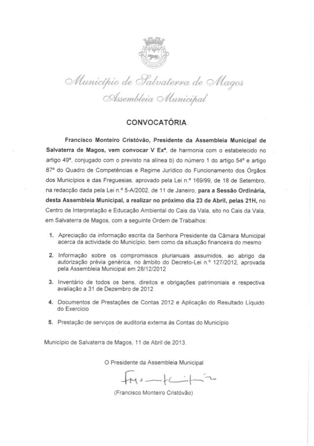Assembleia Municipal de Salvaterra de Magos (23 Abril)