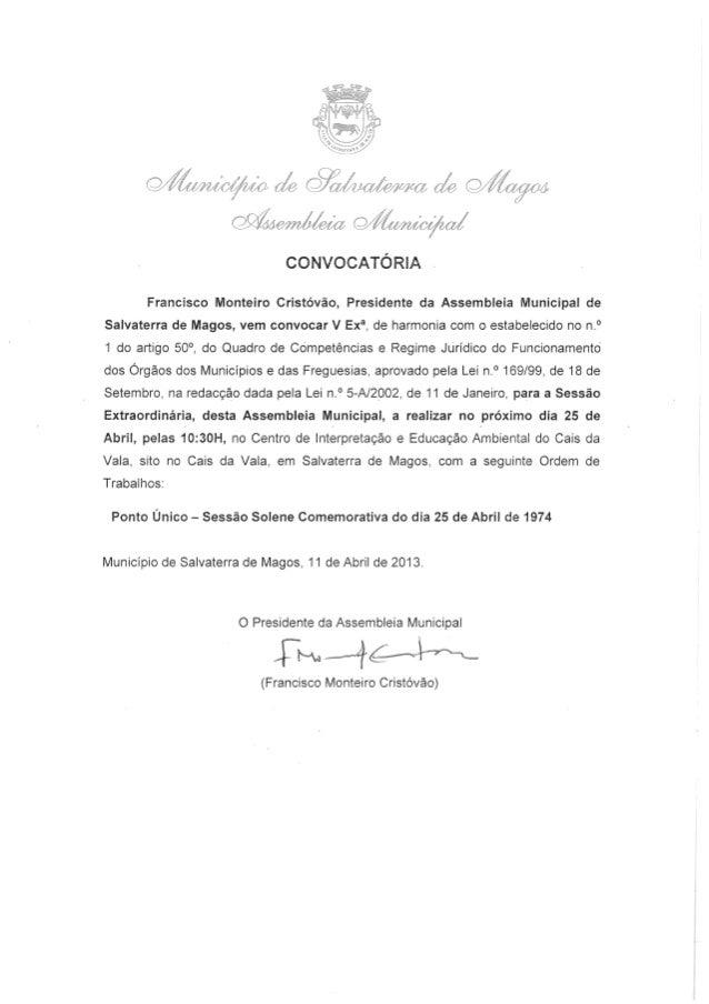 Assembleia Municipal de Salvaterra de Magos (25 Abril)