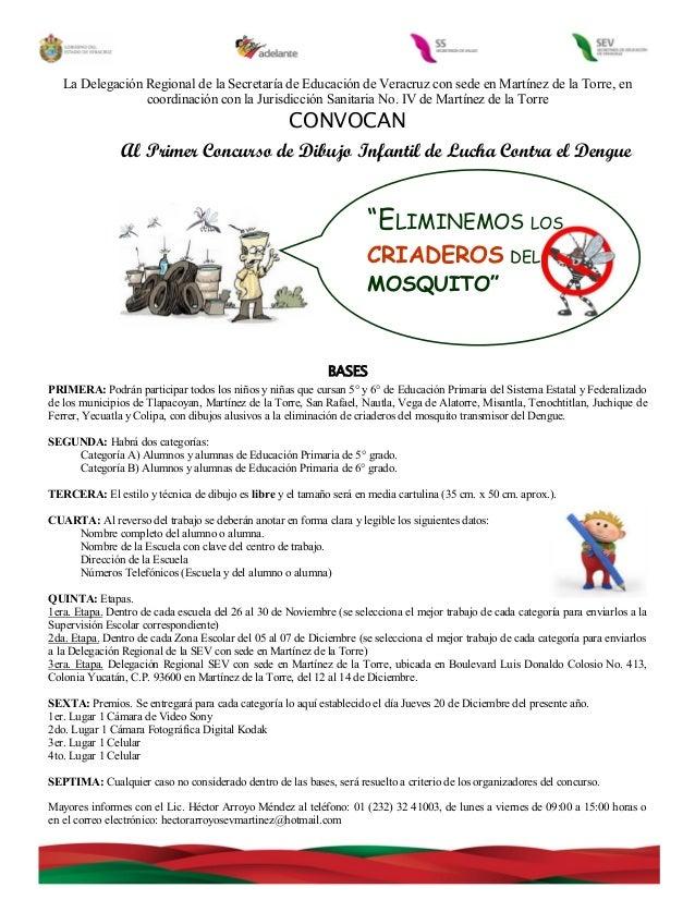 Convocatoria dibujo dengue 2012 primarias
