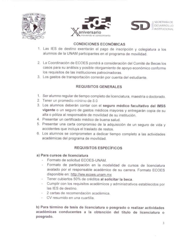Convocatoria ecoes