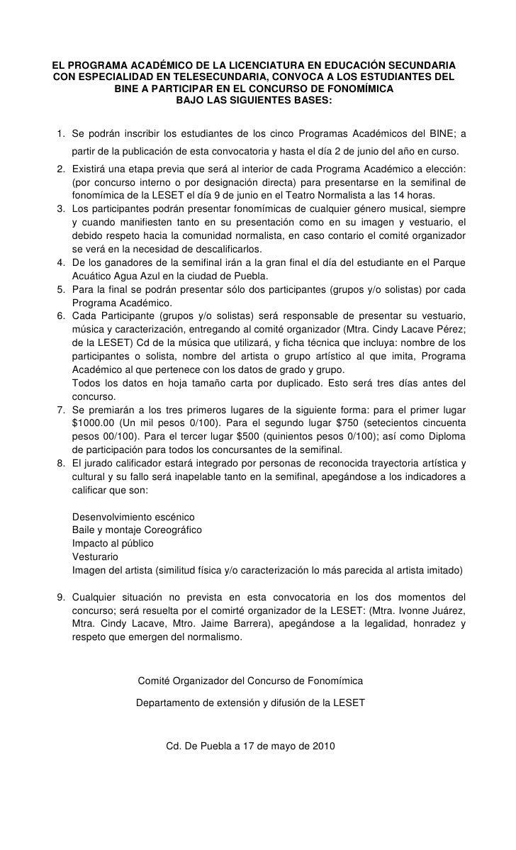 EL PROGRAMA ACADÉMICO DE LA LICENCIATURA EN EDUCACIÓN SECUNDARIA CON ESPECIALIDAD EN TELESECUNDARIA, CONVOCA A LOS ESTUDIA...