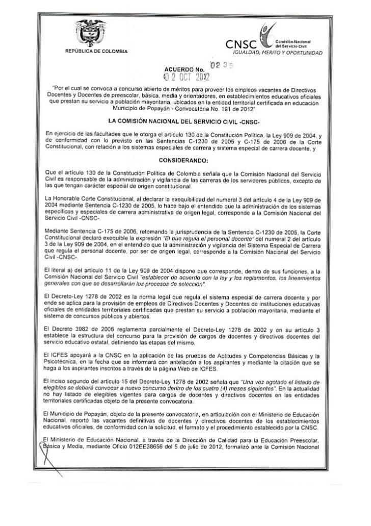 convocatoria para docentes en el municipio de popayan 235