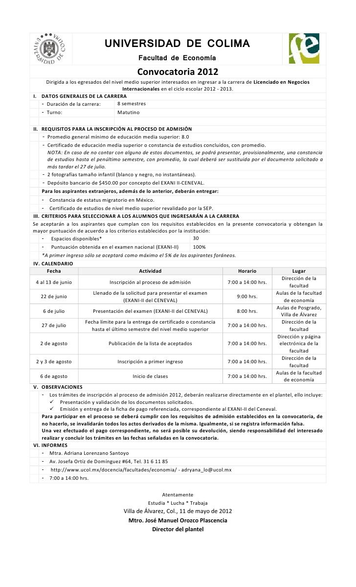 UNIVERSIDAD DE COLIMA                                             Facultad de Economía                                    ...