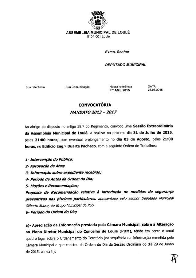 Reunião extraordinaria - ssembleia municipal de Loulé, 31 de julho 2015.doc