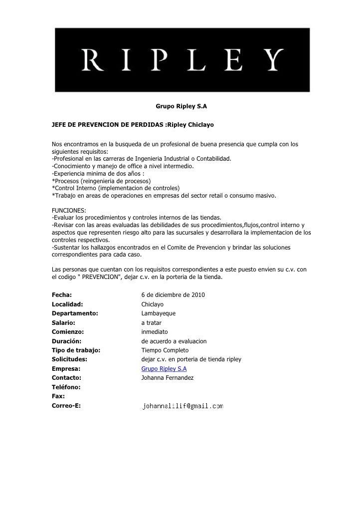 Convocatorias de personal (07 dic-10)