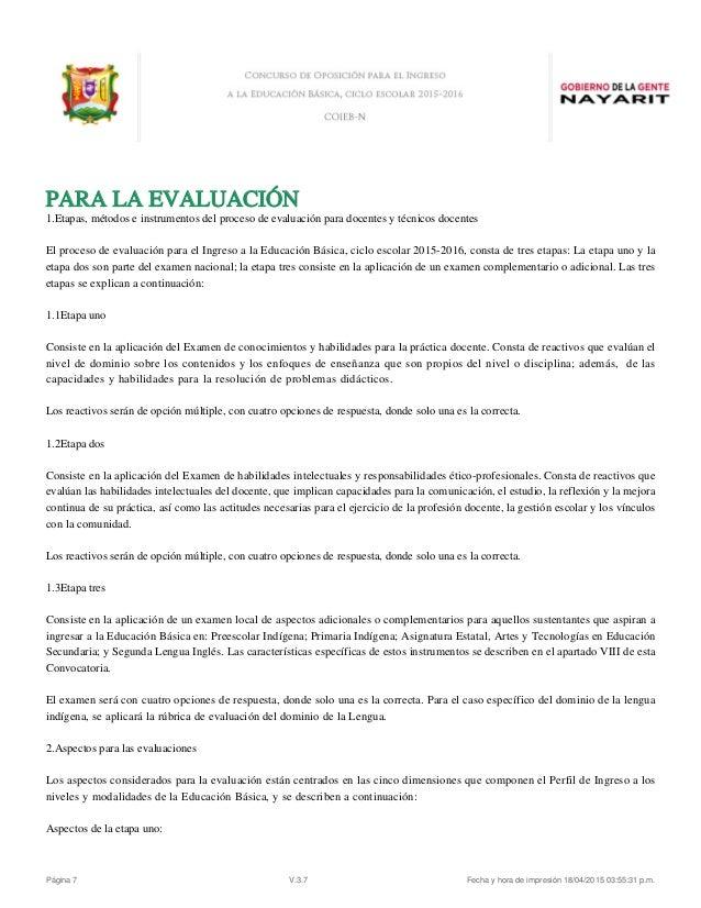 Convocatoria Servicio Profesional Docente Escuelas