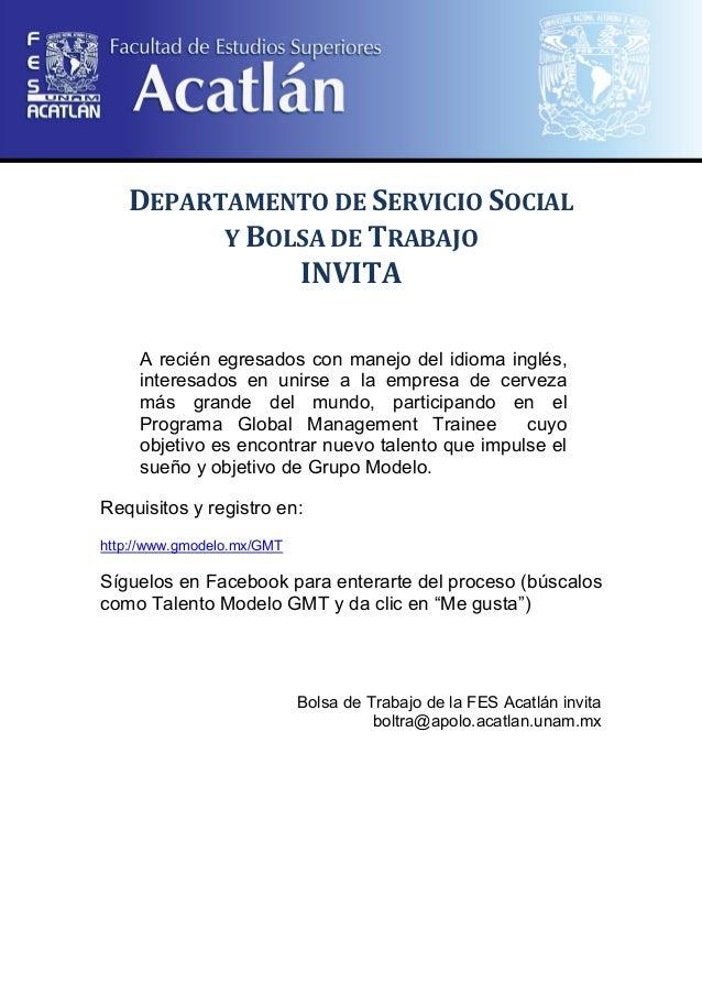 Convocatorias facebook grupo modelo 1 for Trabajo de interna en barcelona