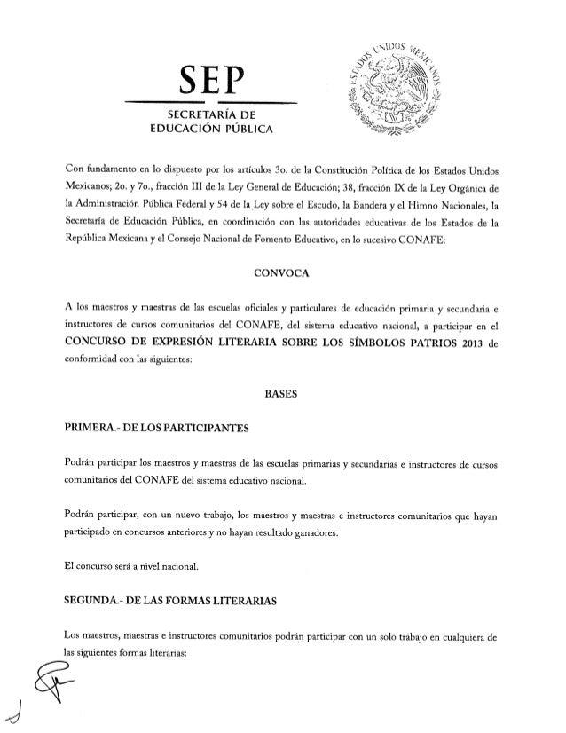 Convocatoria sp maestros 2013 for Convocatoria de maestros