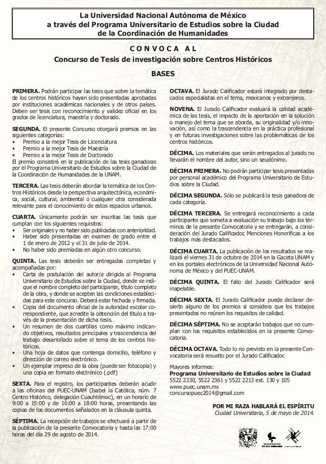 La Universidad Nacional Autónoma de México a través del Programa Universitario de Estudios sobre la Ciudad de la Coordinac...