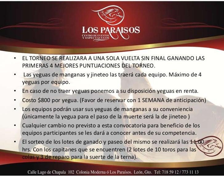 • EL TORNEO SE REALIZARA A UNA SOLA VUELTA SIN FINAL GANANDO LAS  PRIMERAS 4 MEJORES PUNTUACIONES DEL TORNEO.• Las yeguas ...