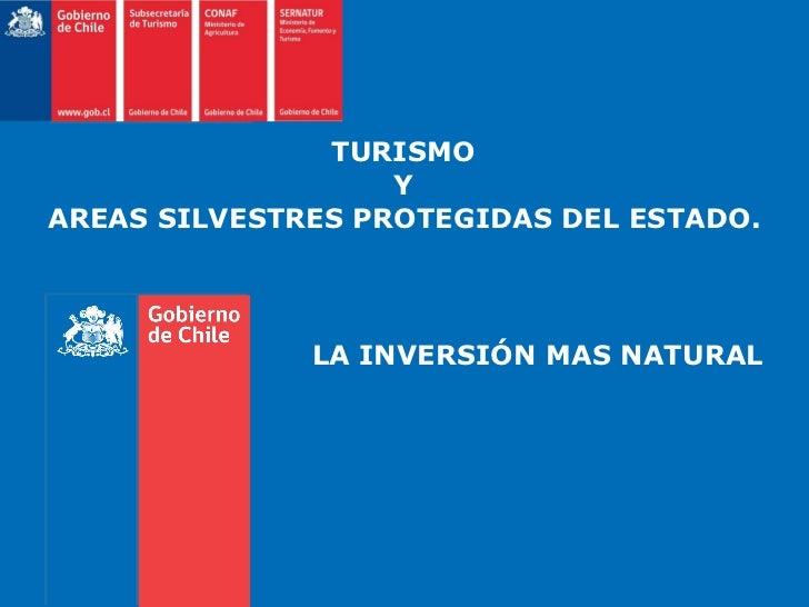 TURISMO  Y  AREAS SILVESTRES PROTEGIDAS DEL ESTADO.   LA INVERSIÓN MAS NATURAL
