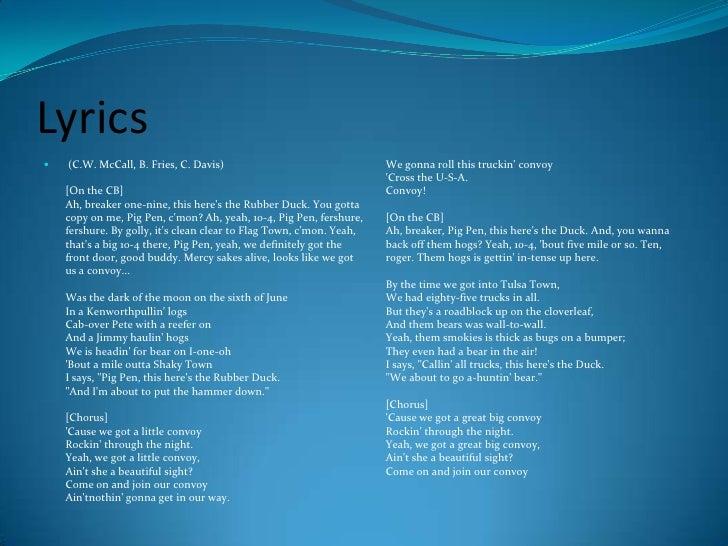 Convoy Lyrics