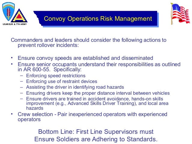 Accident Avoidance Course For Army Motor Vehicle Drivers