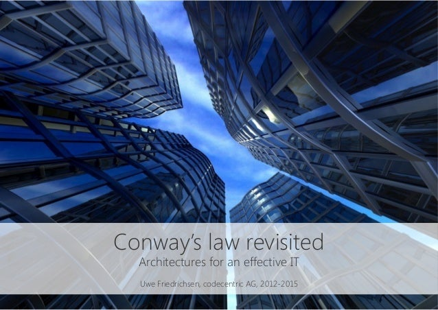 Conway's law revisited Architectures for an effective IT  Uwe Friedrichsen, codecentric AG, 2012-2015
