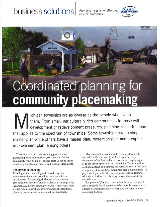 Coodinated planning  & place making
