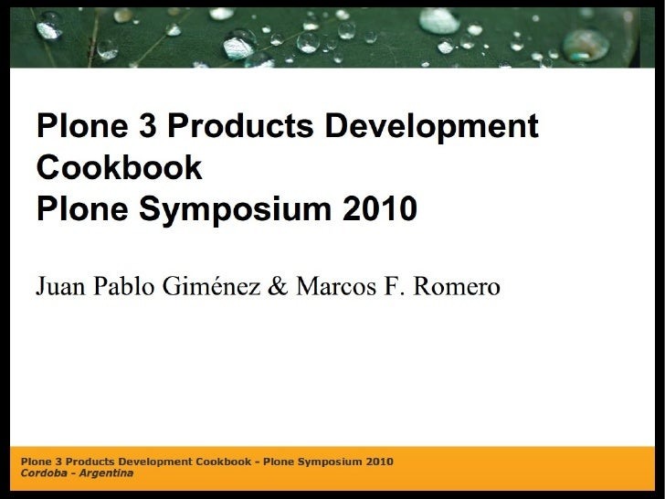 Plone 3 Products Development Cookbook