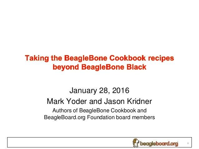 Taking the BeagleBone Cookbook recipes beyond