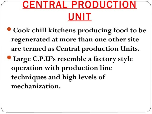 cook chill system definition