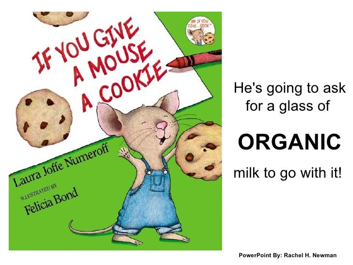 He's going to ask for a glass of  ORGANIC milk to go with it!  PowerPoint By: Rachel H. Newman