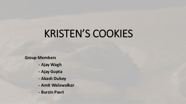 Kristen Cookie Case Study