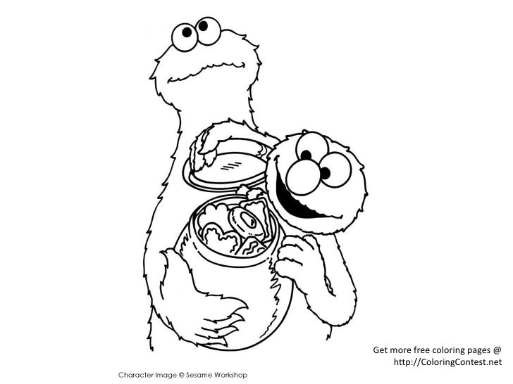 get more free coloring pages httpcoloringcontestnet 4 - Cookie Monster Coloring Page