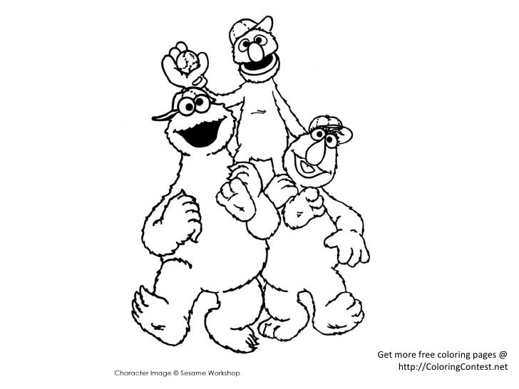 Free Cookie Monster Coloring Pages
