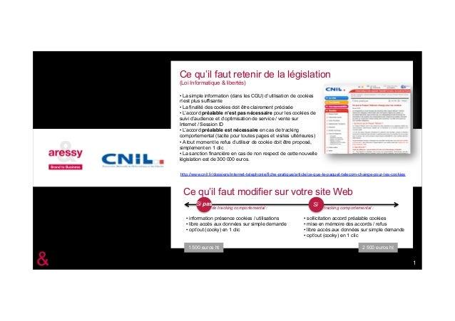 Ce qu'il faut retenir de la législation    (Loi Informatique & libertés)    • La simple information (dans les CGU) d'utili...