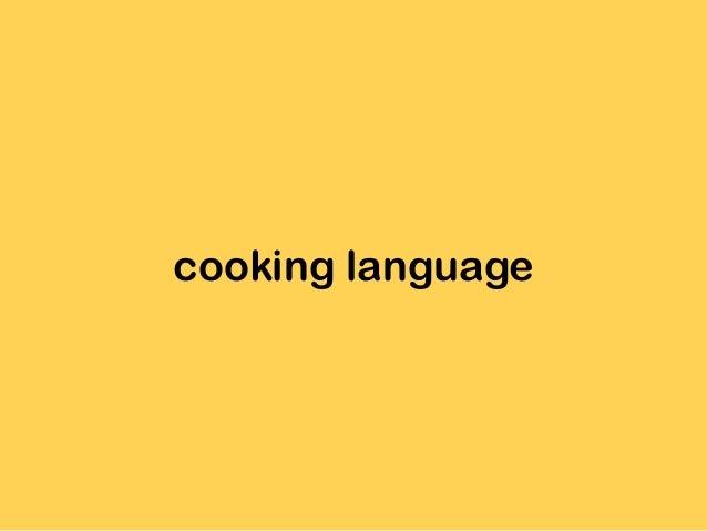 cooking language