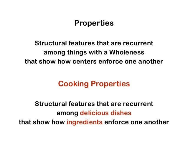 Cooking Properties Structural features that are recurrent among delicious dishes that show how ingredients enforce one ano...