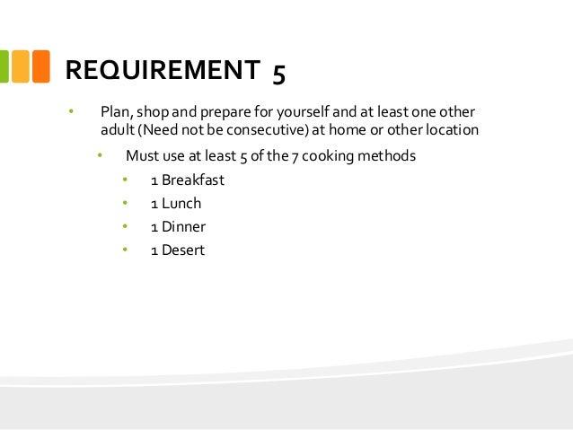 cooking merit badge workbook answers