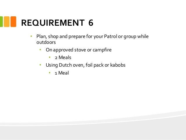 Cooking merit badge Presentation Troop 874