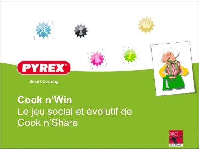 Cook n'Win Le jeu social et évolutif de Cook n'Share