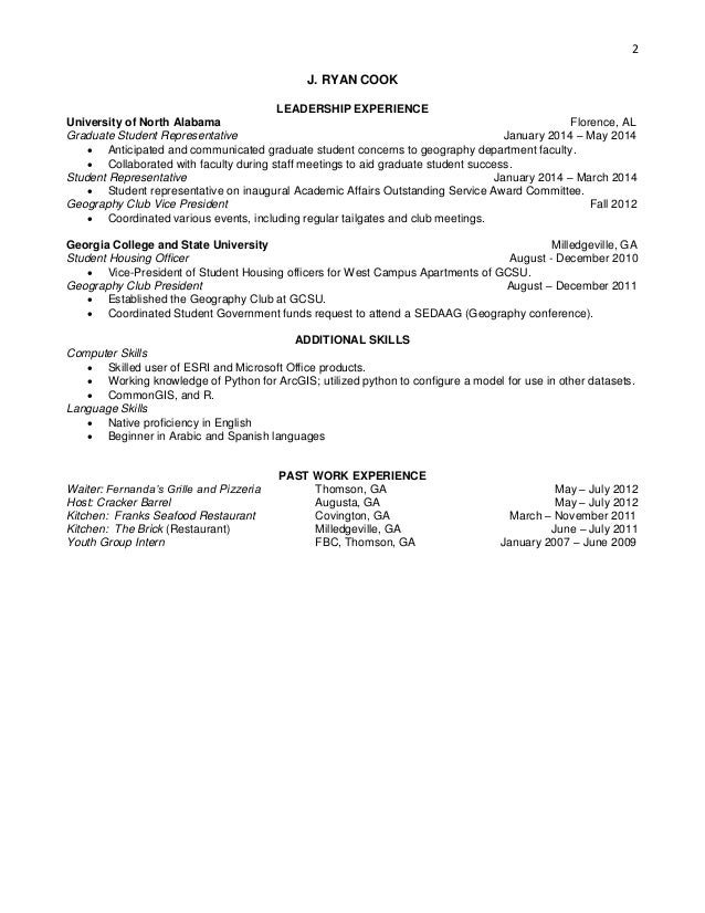 Cook resume dtechnical – Cook Resume