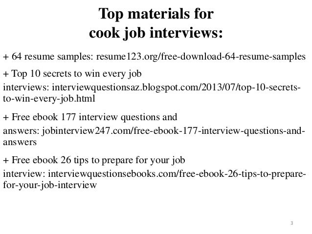 Cook Resume Sample Pdf Ebook Free Download