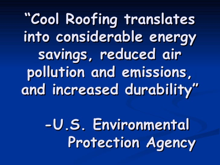 Cool Roofs Presentation