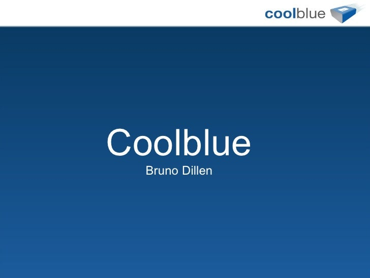 Coolblue Bruno Dillen