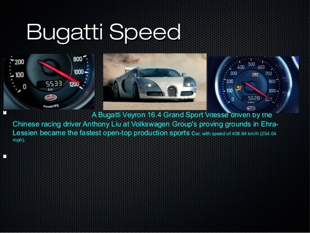 Bugatti Facts