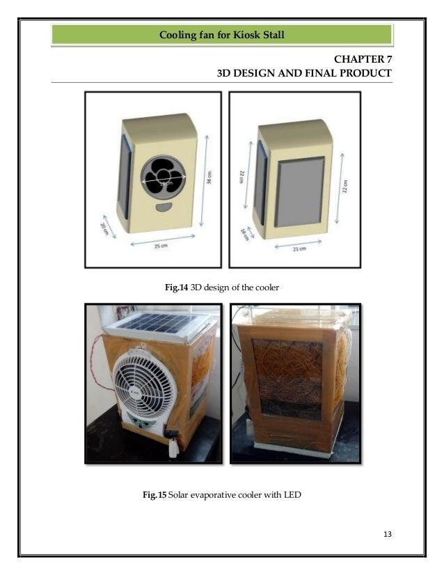 Solar Evaporative Air Cooler