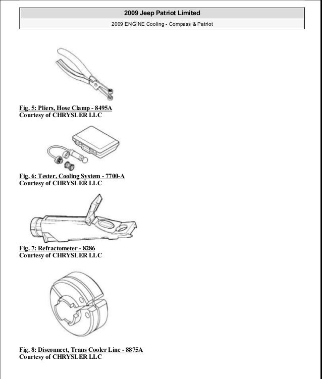 Fig. 5: Pliers, Hose Clamp - 8495A Courtesy of CHRYSLER LLC Fig. 6: Tester, Cooling System - 7700-A Courtesy of CHRYSLER L...