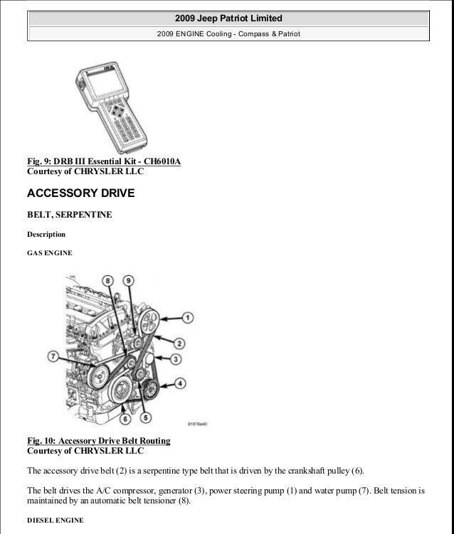 Fig. 9: DRB III Essential Kit - CH6010A Courtesy of CHRYSLER LLC ACCESSORY DRIVE BELT, SERPENTINE Description GAS ENGINE F...