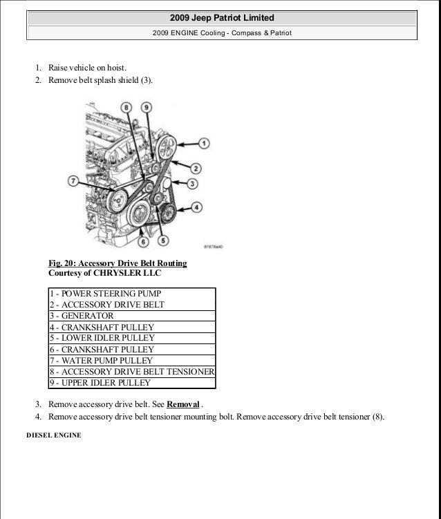 Manual reparacion Jeep Compass Patriot Limited 20072009Cooling – Jeep Patriot 2.0 Engine Diagram