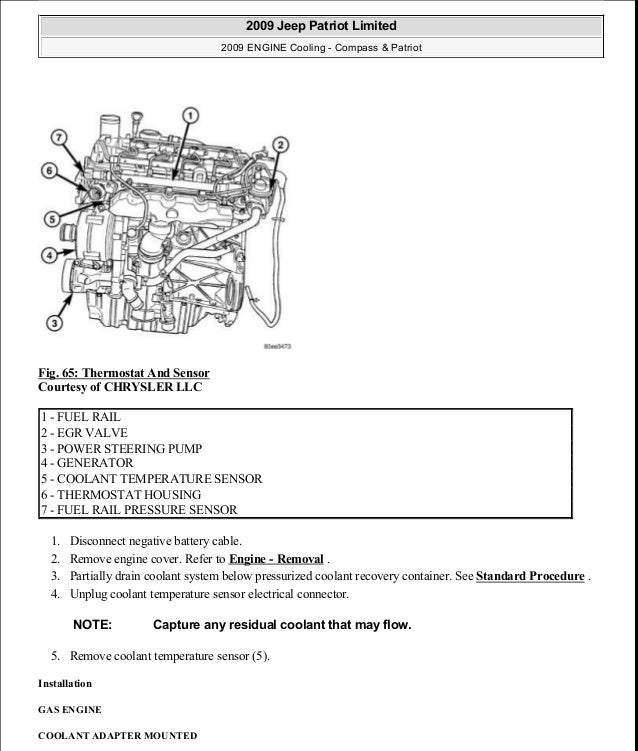 manual reparacion jeep compass patriot limited 2007 2009 cooling rh slideshare net 5.3 Engine Diagram 5.3 Engine Diagram