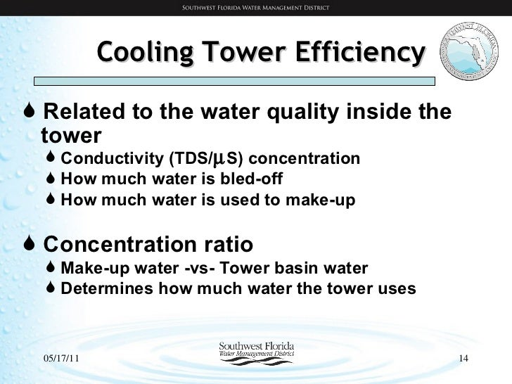 Water Conservation - Cooling Tower Management Overview
