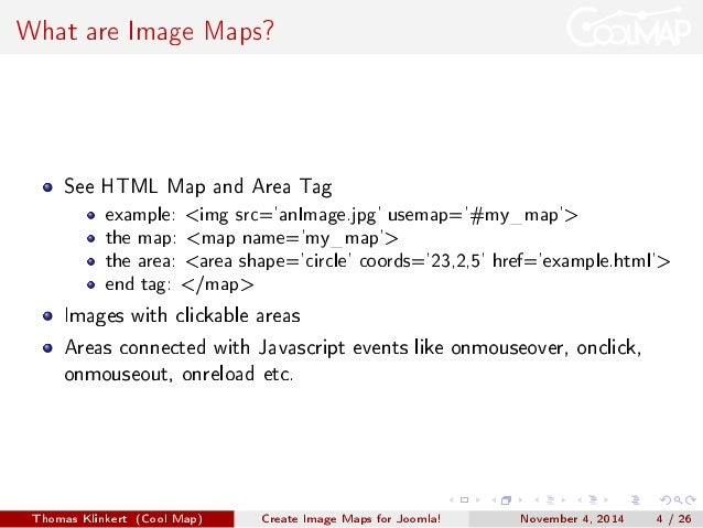 how to create map in html