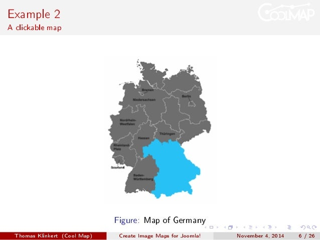 Create Image Maps For Joomla - Germany clickable map