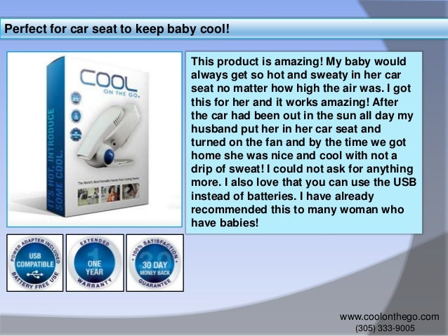 2 Perfect For Car Seat To Keep Baby Cool