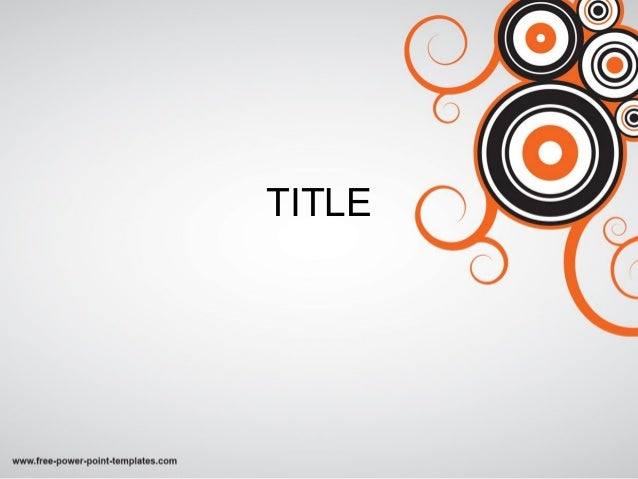 cool powerpoint templates with circles and orange effect | free downl…, Powerpoint templates