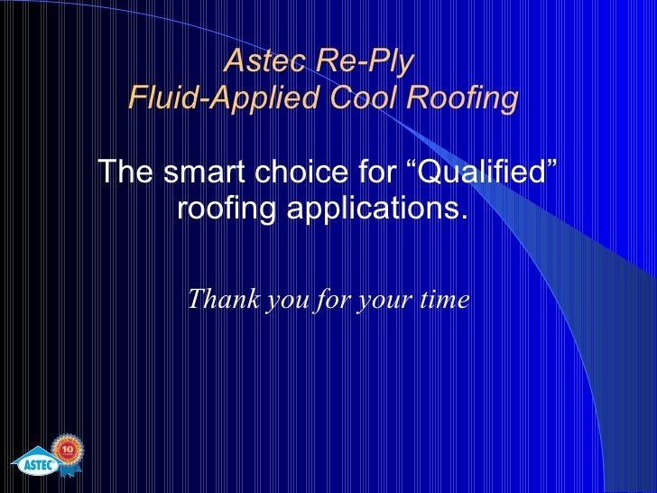 Cool Roofing With Astec