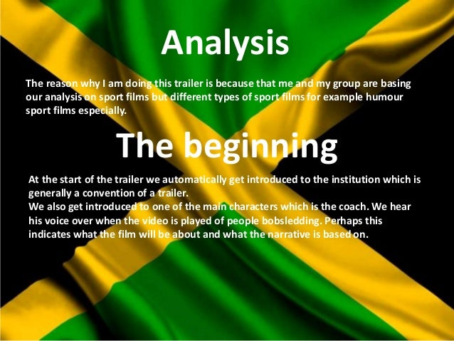 Andrew Arenas' Theoretical Analysis of Cool Runnings