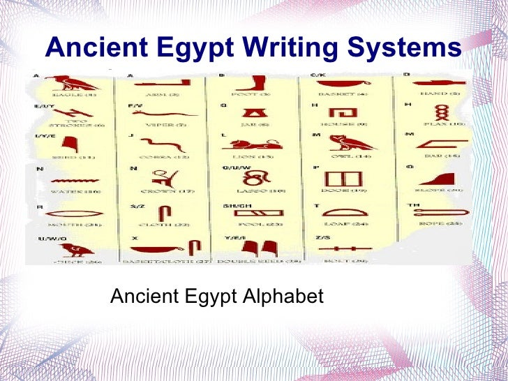 Research paper on hieroglyphs